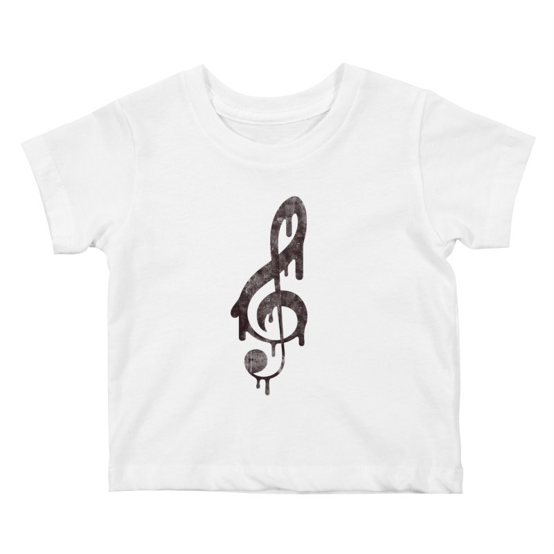 Melting Clef Kids Baby T-Shirt by tonteau's Artist Shop