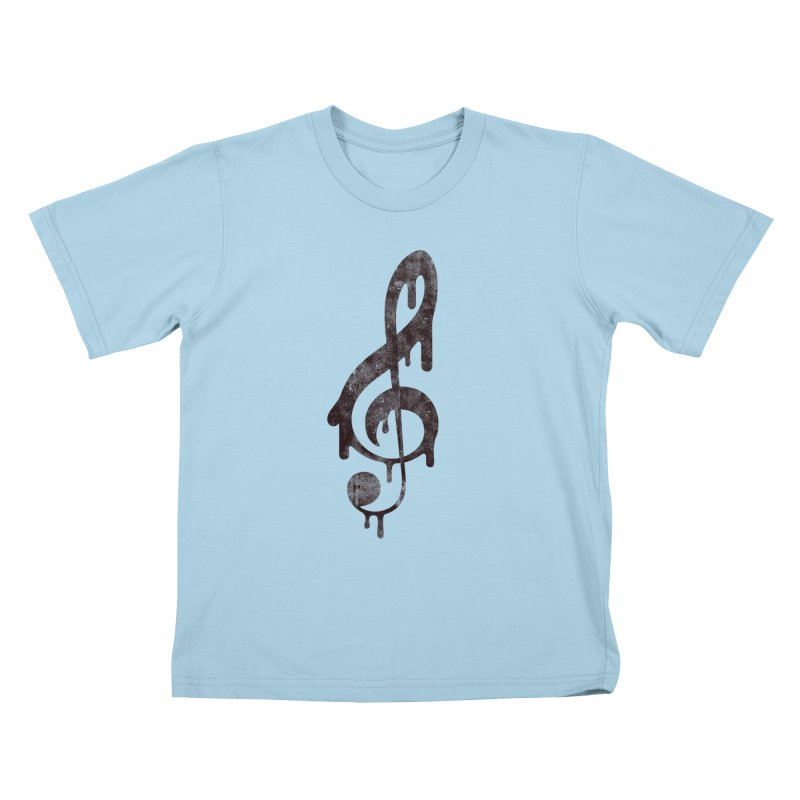 Melting Clef Kids T-Shirt by tonteau's Artist Shop