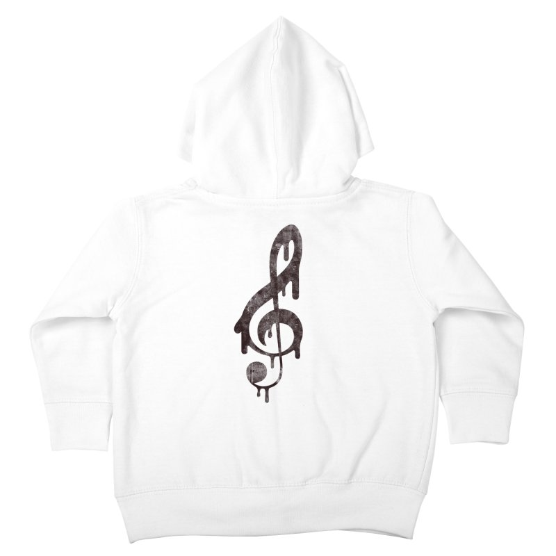 Melting Clef Kids Toddler Zip-Up Hoody by tonteau's Artist Shop