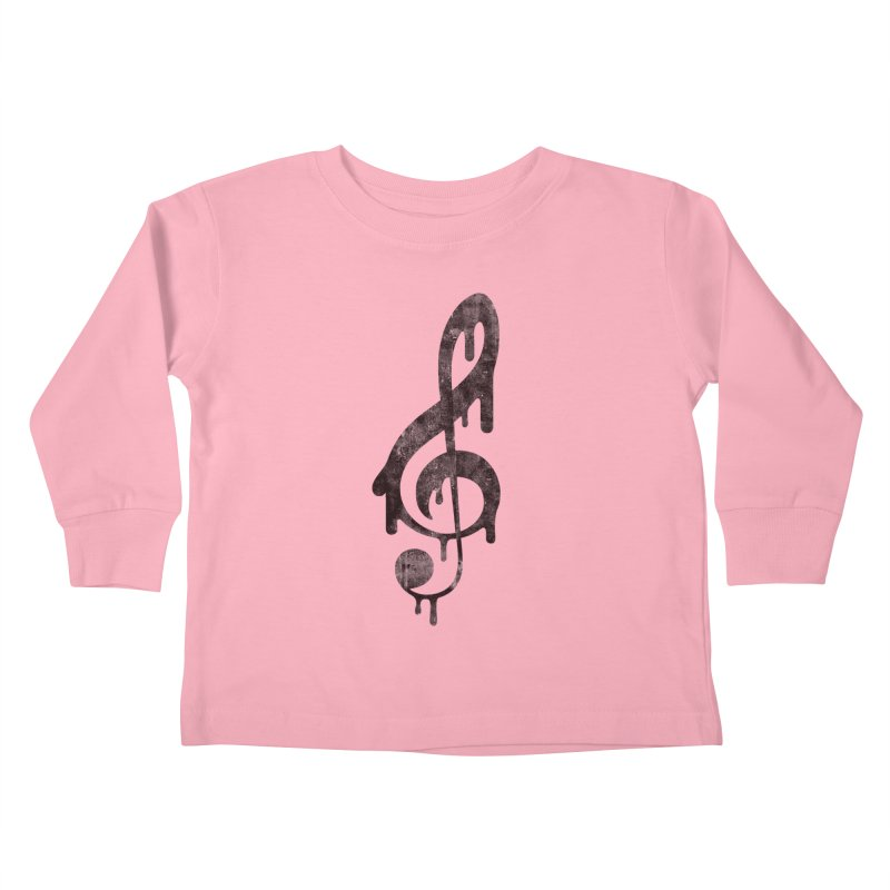 Melting Clef Kids Toddler Longsleeve T-Shirt by tonteau's Artist Shop