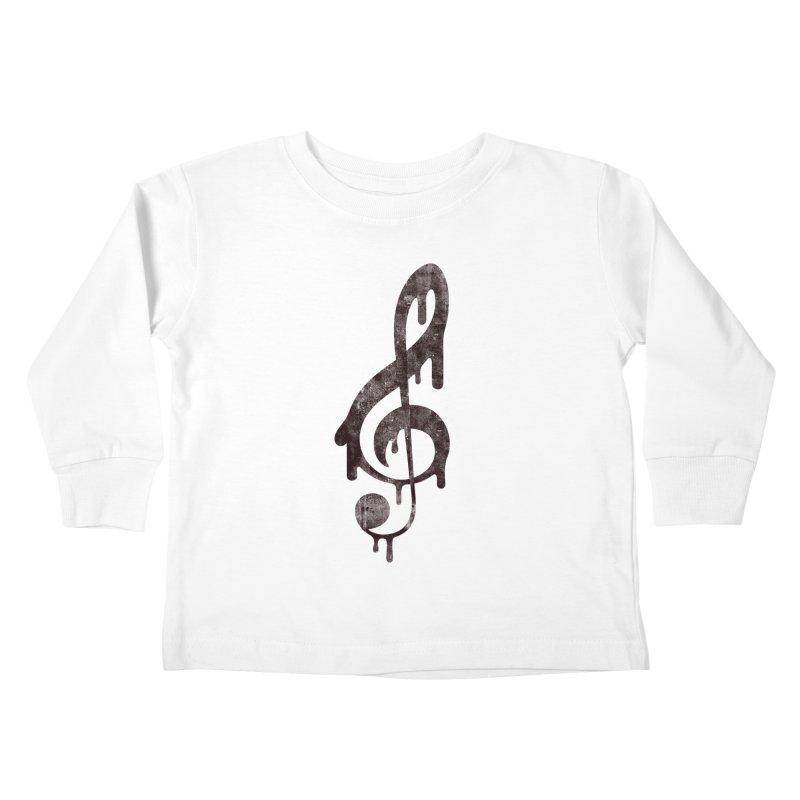 Melting Clef Kids Toddler Longsleeve T-Shirt by tonteau's Artist Shop