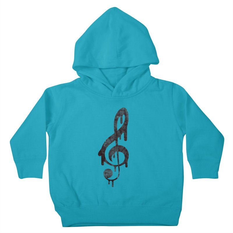 Melting Clef Kids Toddler Pullover Hoody by tonteau's Artist Shop