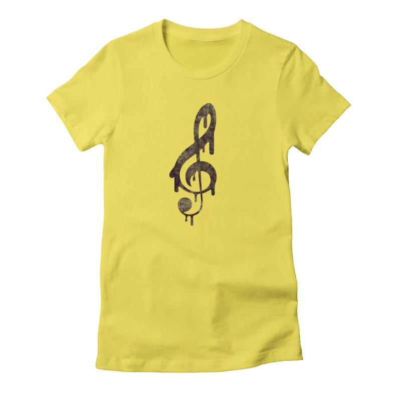 Melting Clef Women's T-Shirt by tonteau's Artist Shop