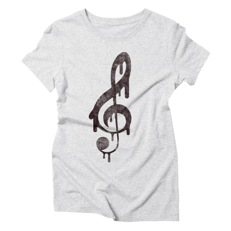 Melting Clef Women's Triblend T-Shirt by tonteau's Artist Shop