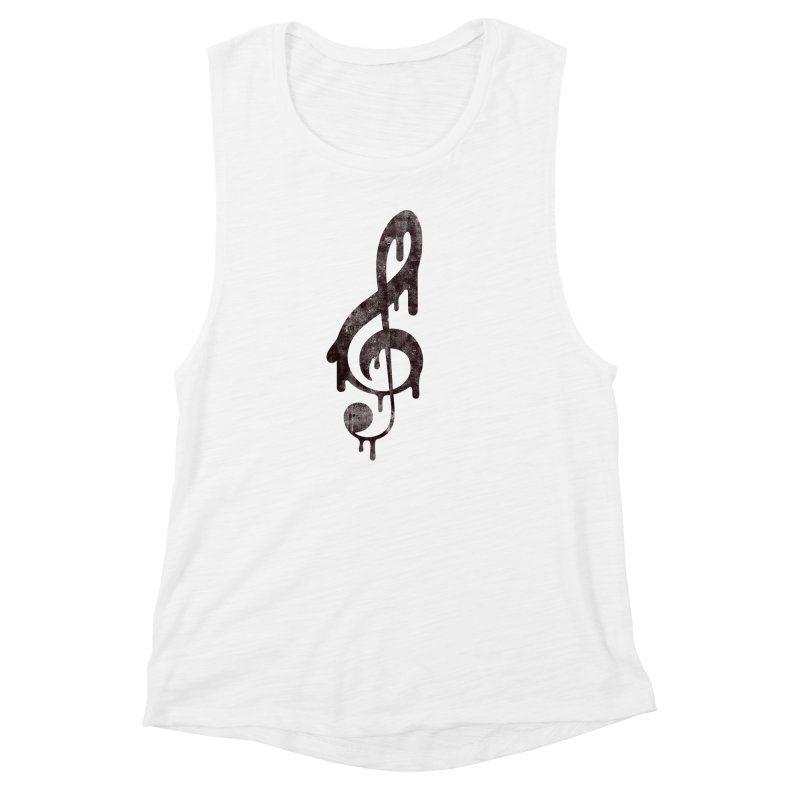 Melting Clef Women's Muscle Tank by tonteau's Artist Shop