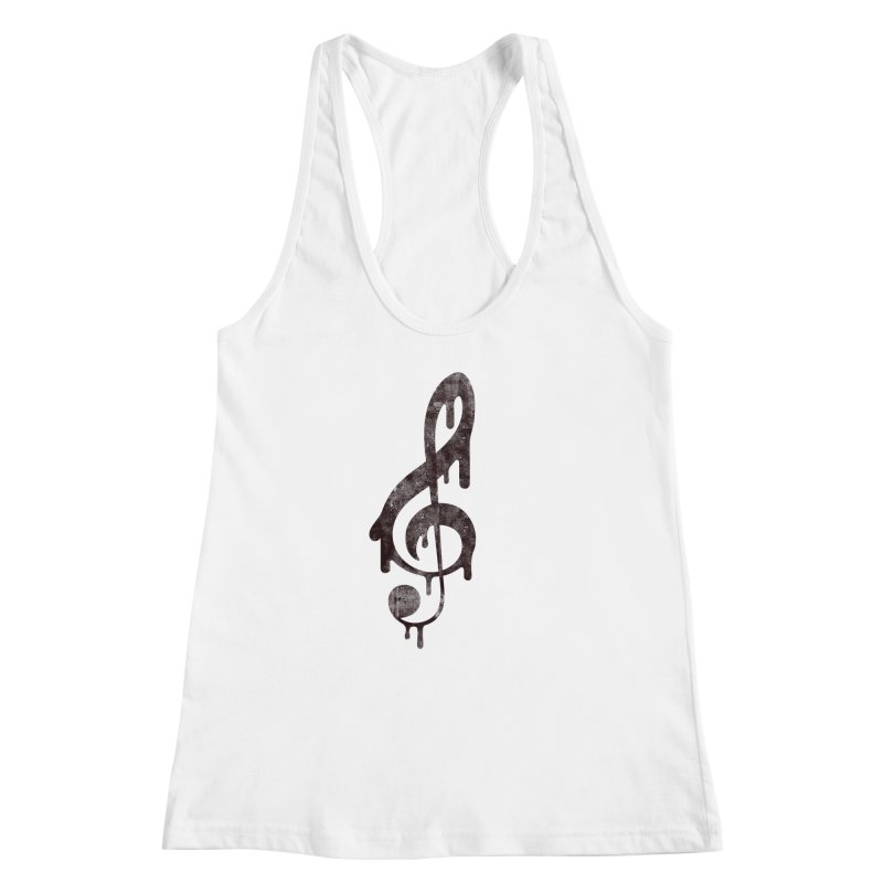 Melting Clef Women's Racerback Tank by tonteau's Artist Shop