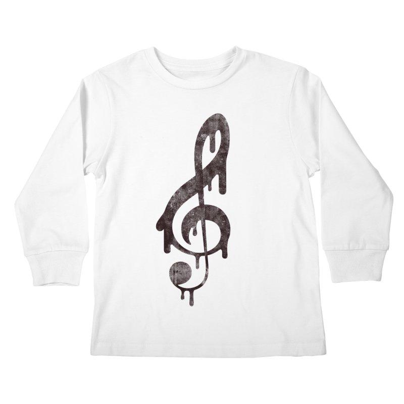 Melting Clef Kids Longsleeve T-Shirt by tonteau's Artist Shop