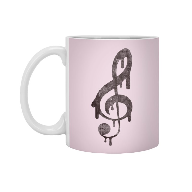 Melting Clef Accessories Standard Mug by tonteau's Artist Shop