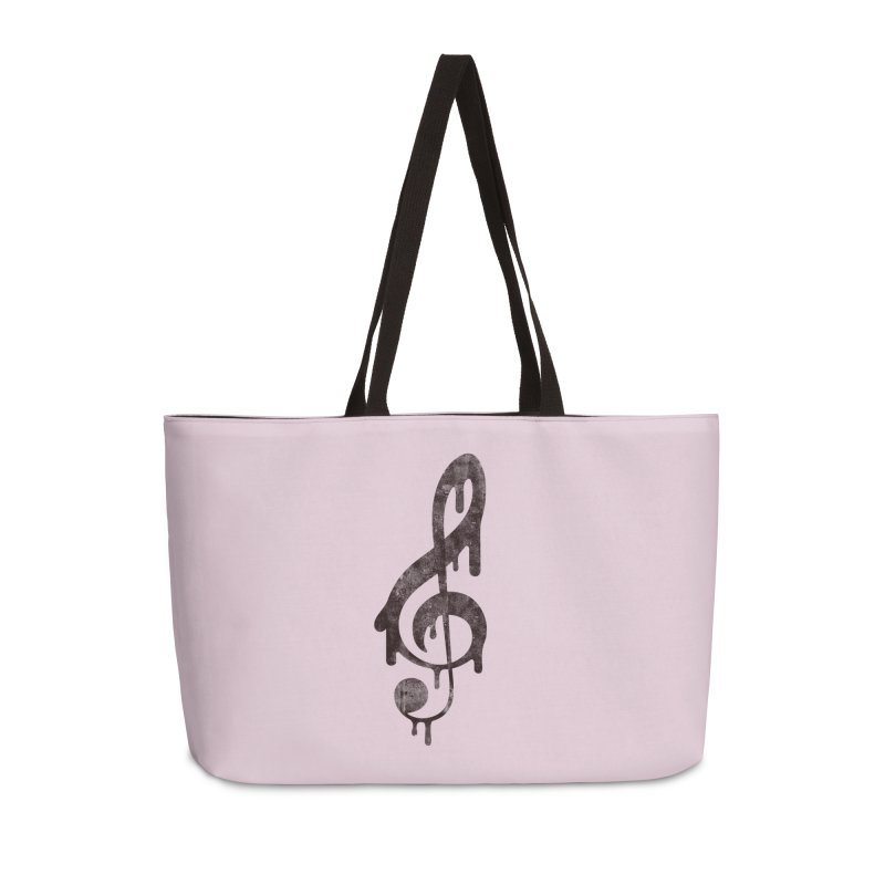 Melting Clef Accessories Weekender Bag Bag by tonteau's Artist Shop
