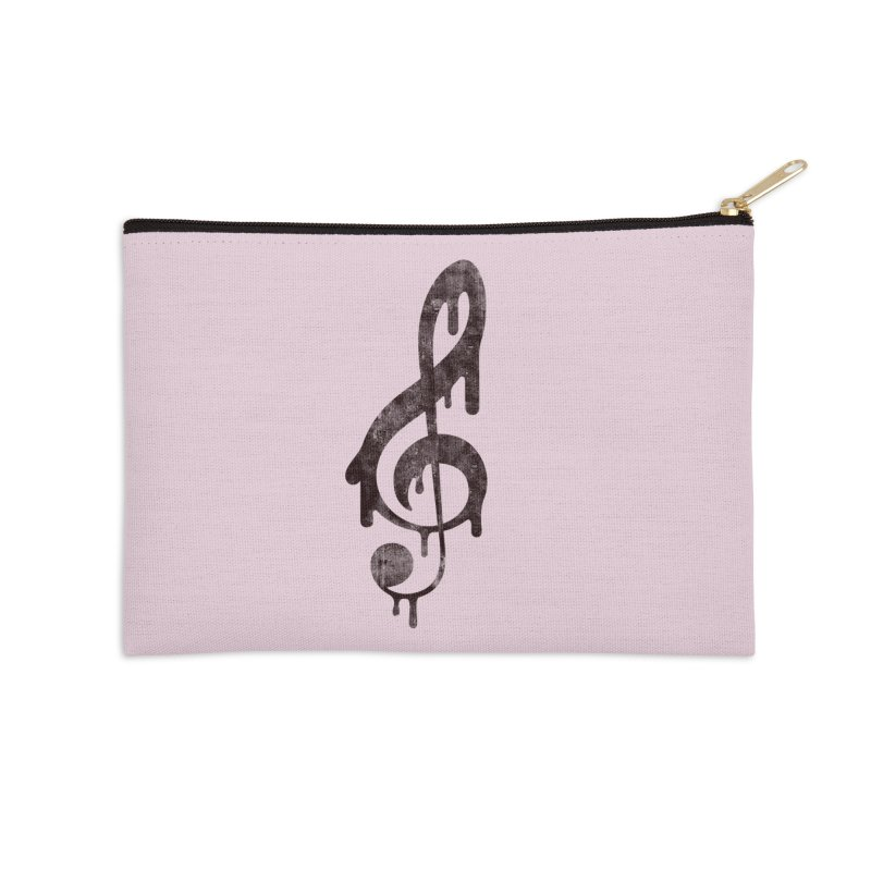 Melting Clef Accessories Zip Pouch by tonteau's Artist Shop