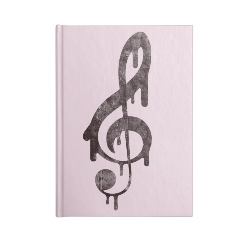Melting Clef Accessories Lined Journal Notebook by tonteau's Artist Shop
