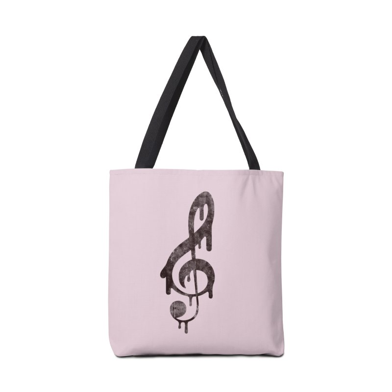 Melting Clef Accessories Bag by tonteau's Artist Shop
