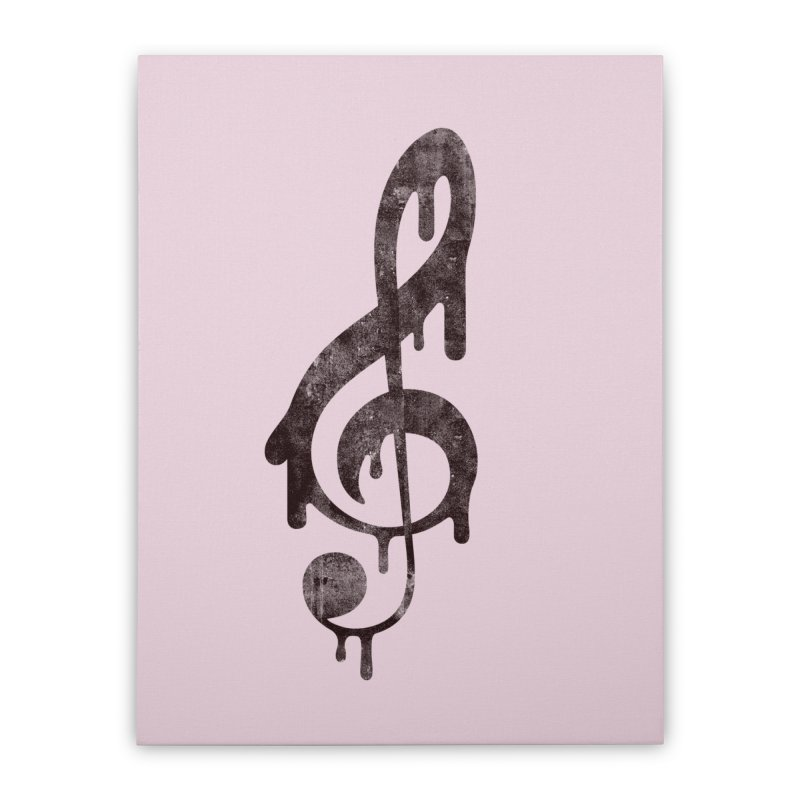 Melting Clef Home Stretched Canvas by tonteau's Artist Shop
