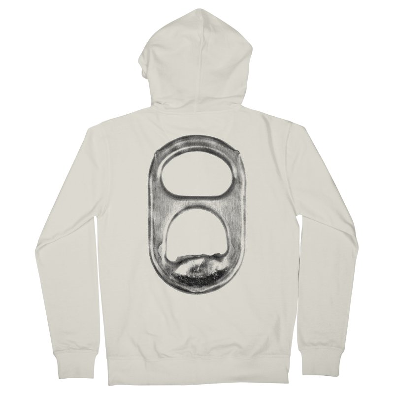 Ring Pull Men's French Terry Zip-Up Hoody by tonteau's Artist Shop