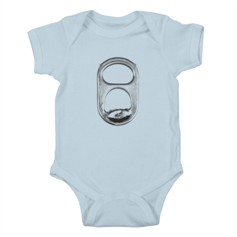Ring Pull Kids Baby Bodysuit by tonteau's Artist Shop