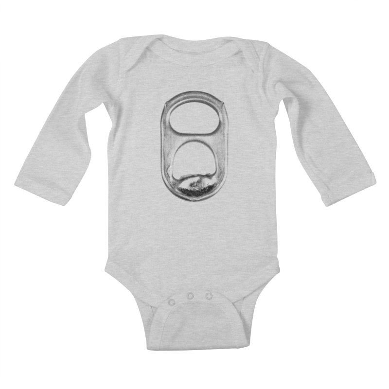 Ring Pull Kids Baby Longsleeve Bodysuit by tonteau's Artist Shop