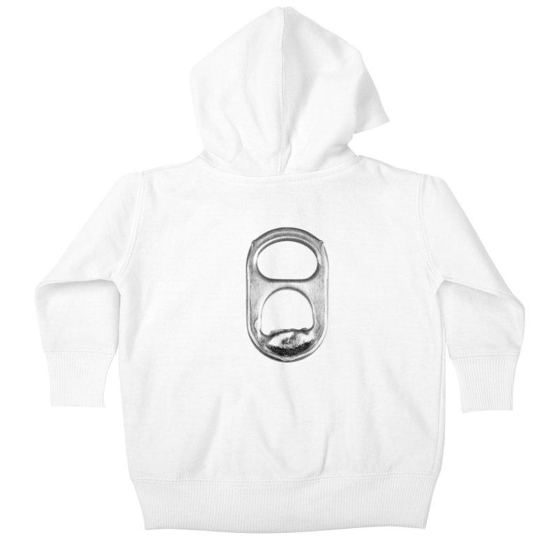 Ring Pull Kids Baby Zip-Up Hoody by tonteau's Artist Shop