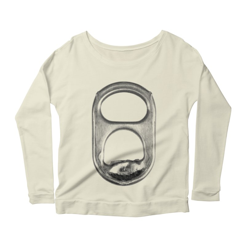Ring Pull Women's Longsleeve Scoopneck  by tonteau's Artist Shop