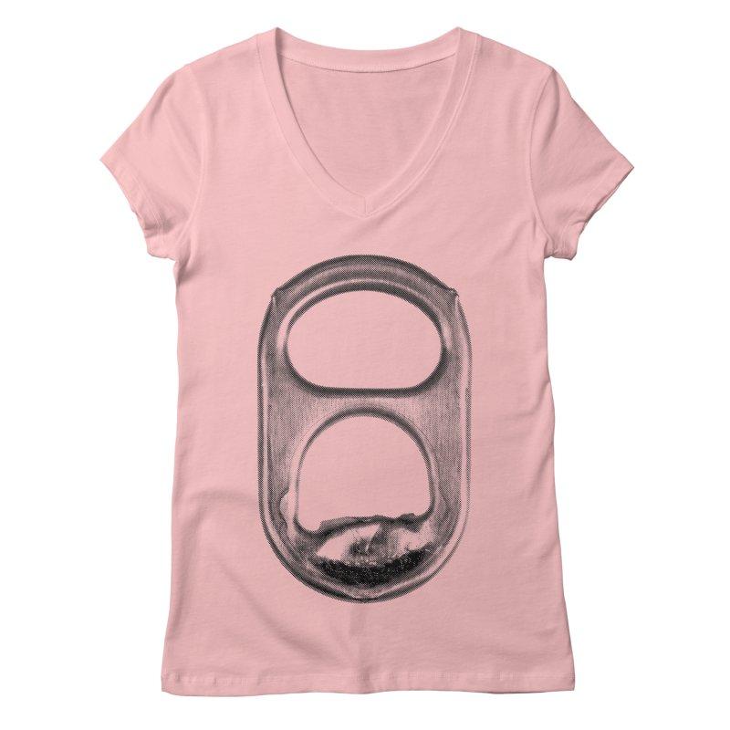 Ring Pull Women's Regular V-Neck by tonteau's Artist Shop