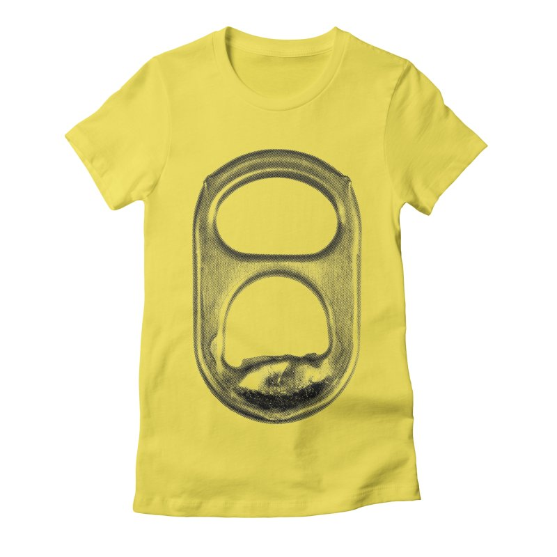 Ring Pull Women's Fitted T-Shirt by tonteau's Artist Shop