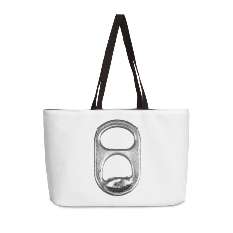 Ring Pull Accessories Weekender Bag Bag by tonteau's Artist Shop