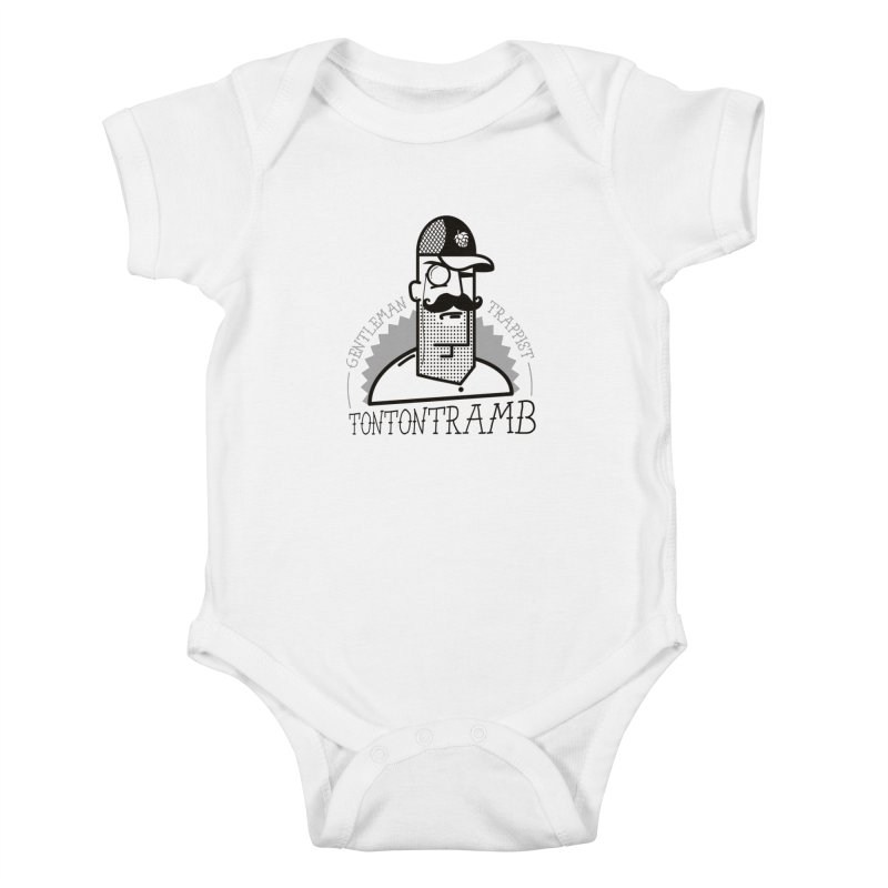 Gentleman Trappist Kids Baby Bodysuit by Tramb