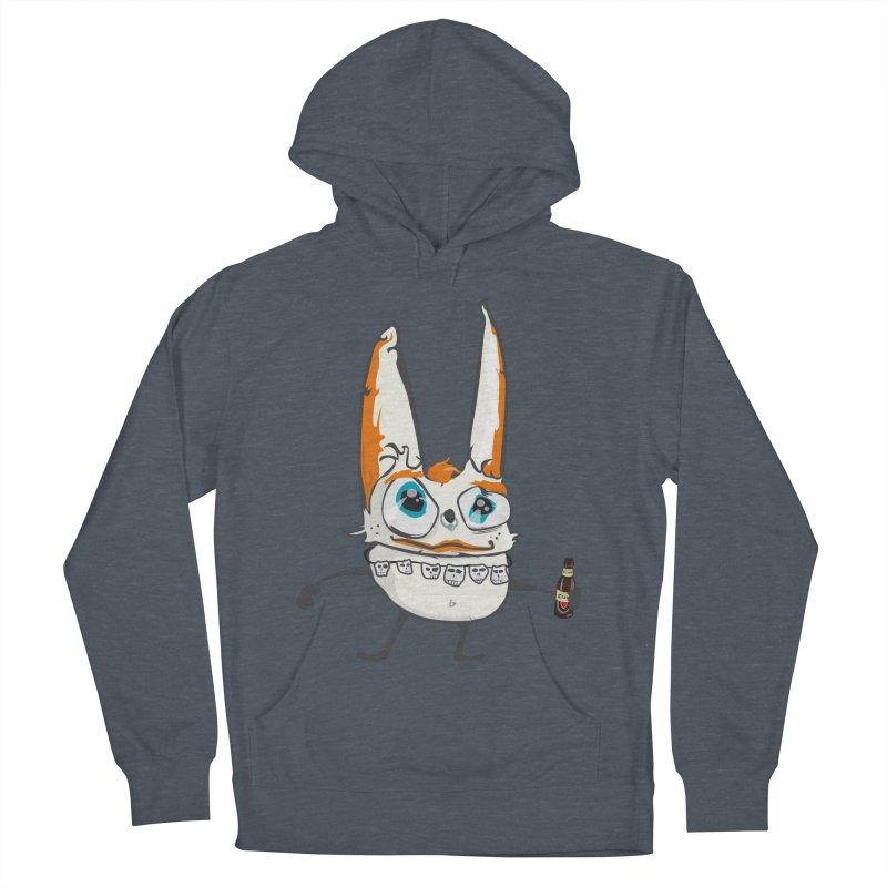 Drunk Rabbit Men's Pullover Hoody by Tramb