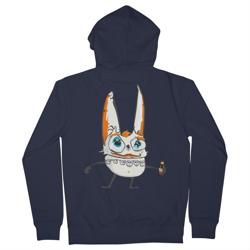 Drunk Rabbit Men's Zip-Up Hoody by Tramb
