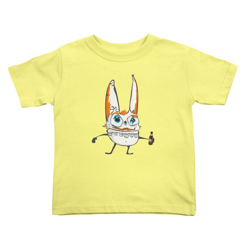 Drunk Rabbit Kids Toddler T-Shirt by Tramb