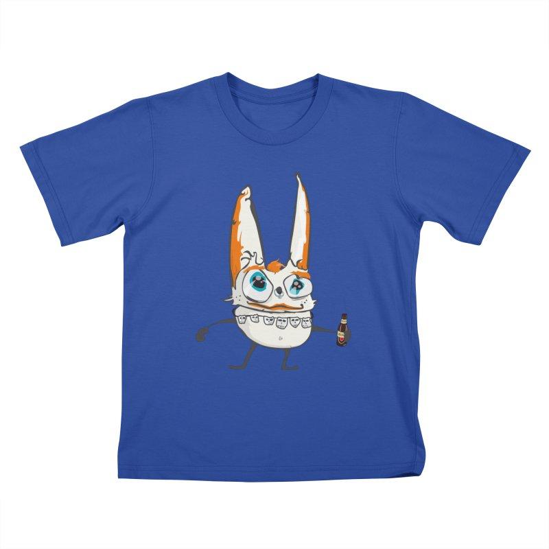 Drunk Rabbit Kids T-shirt by Tramb