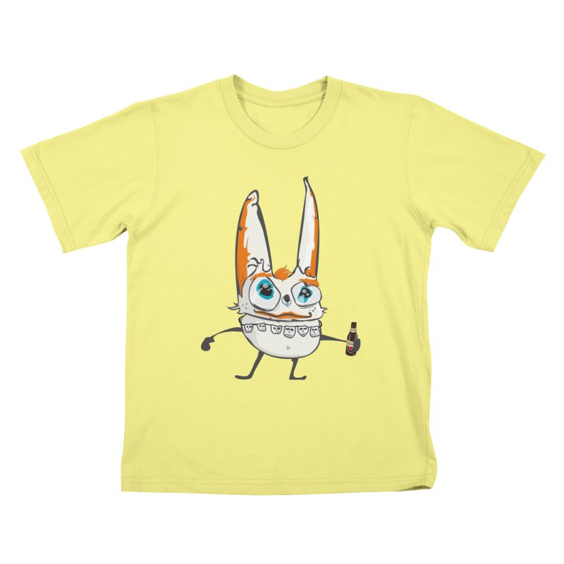 Drunk Rabbit Kids T-shirt by Tramb