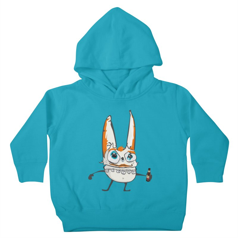 Drunk Rabbit Kids Toddler Pullover Hoody by Tramb