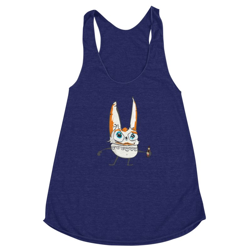 Drunk Rabbit Women's Racerback Triblend Tank by Tramb