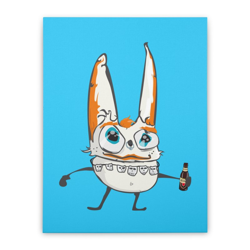 Drunk Rabbit Home Stretched Canvas by Tramb
