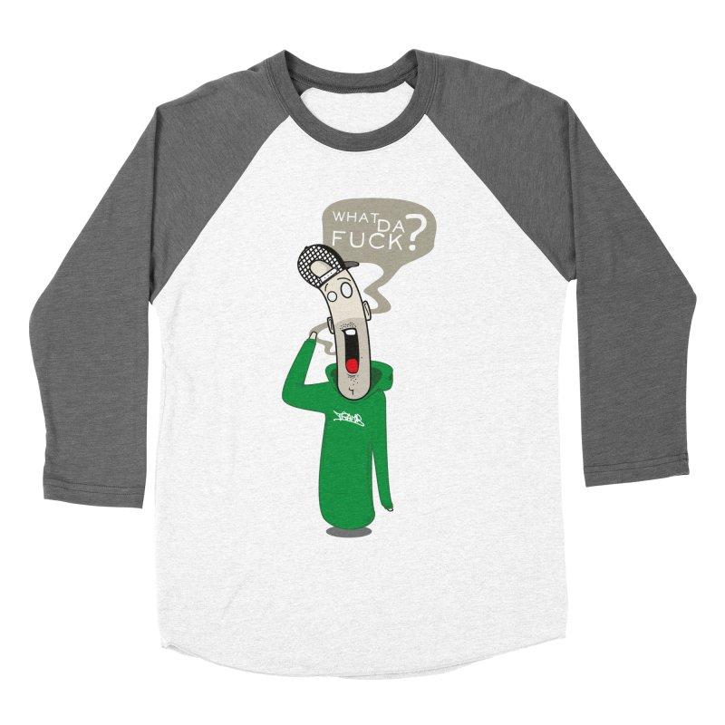 What Da Fuck??? Men's Baseball Triblend T-Shirt by Tramb