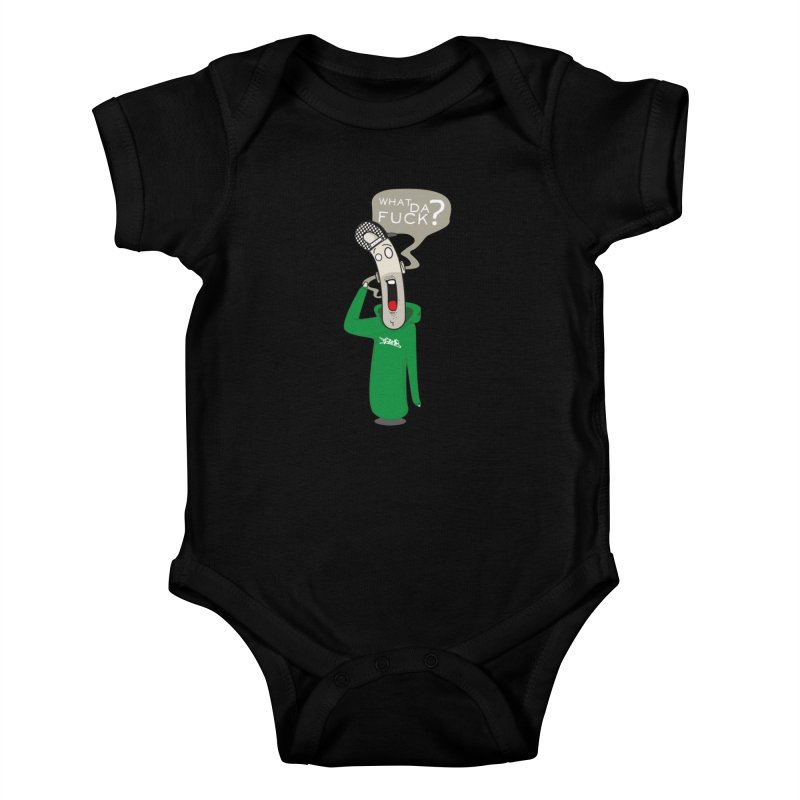 What Da Fuck??? Kids Baby Bodysuit by Tramb