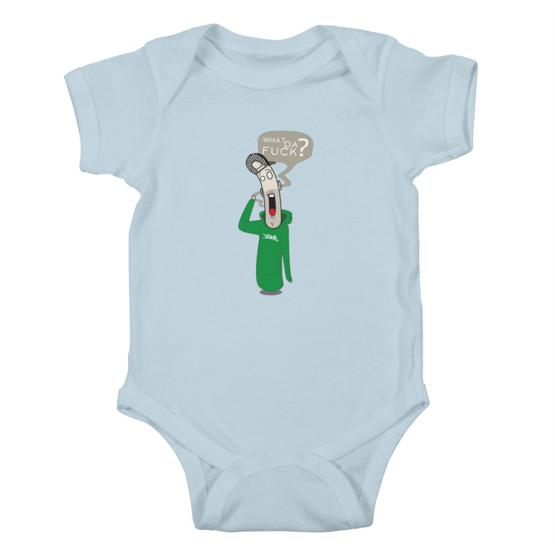 What Da Fuck??? Kids Baby Bodysuit by Tramb