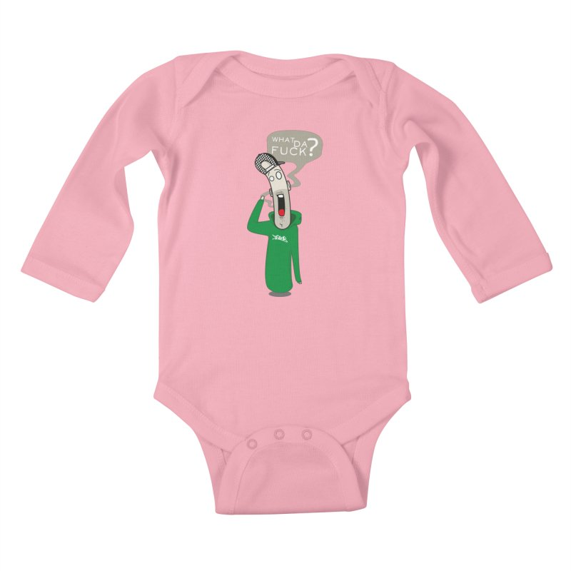 What Da Fuck??? Kids Baby Longsleeve Bodysuit by Tramb