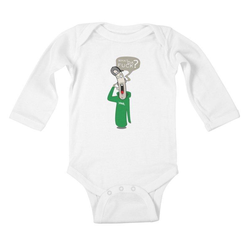 What Da Fuck??? Kids Baby Longsleeve Bodysuit by Tramb