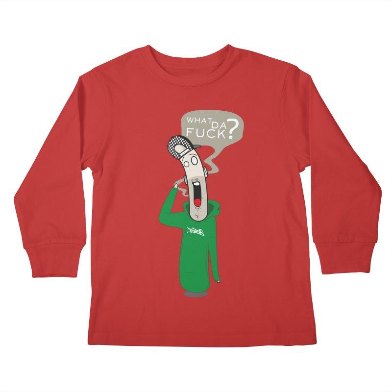 What Da Fuck??? Kids Longsleeve T-Shirt by Tramb