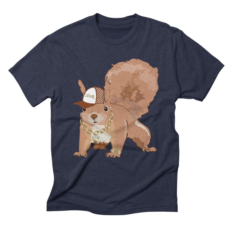 Oldschool Squirrel Men's Triblend T-Shirt by Tramb