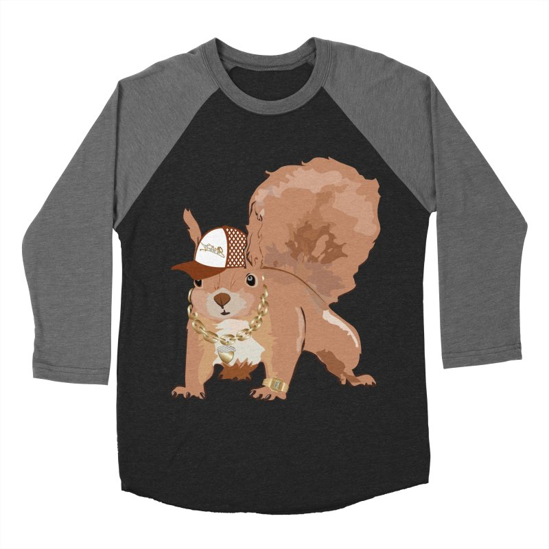 Oldschool Squirrel Men's Baseball Triblend T-Shirt by Tramb