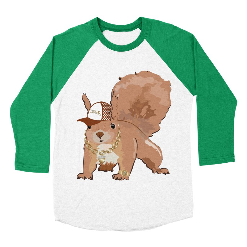 Oldschool Squirrel Men's Baseball Triblend T-Shirt by Tramb