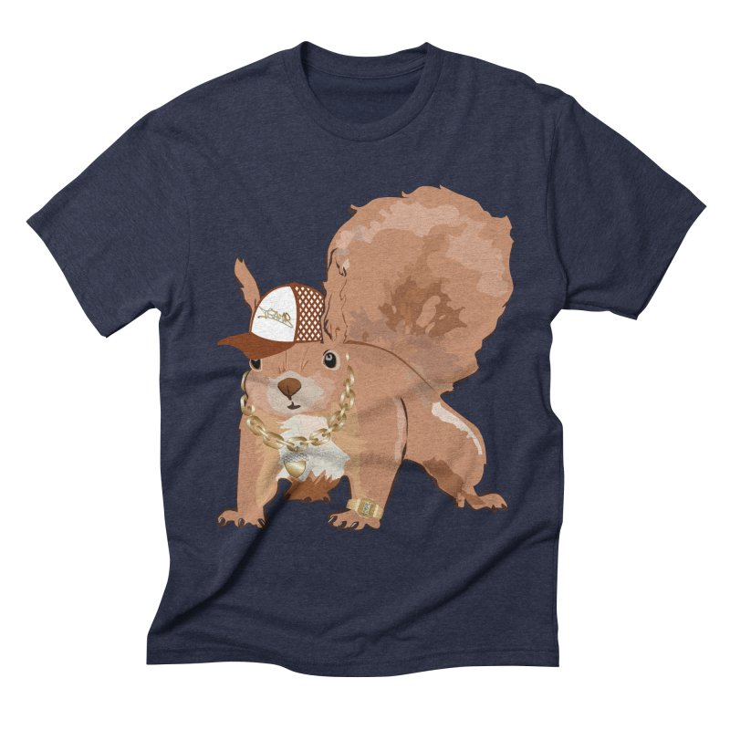 Oldschool Squirrel Men's Triblend T-shirt by Tramb