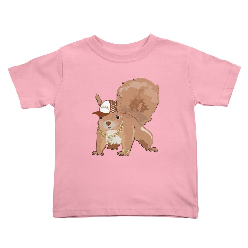 Oldschool Squirrel Kids Toddler T-Shirt by Tramb