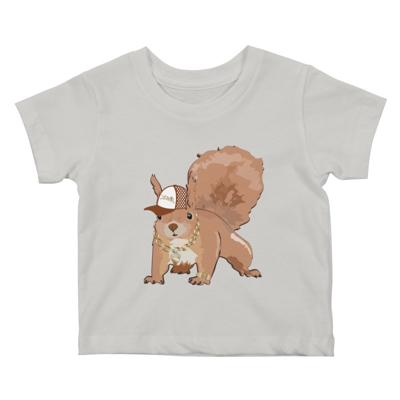 Oldschool Squirrel Kids Baby T-Shirt by Tramb