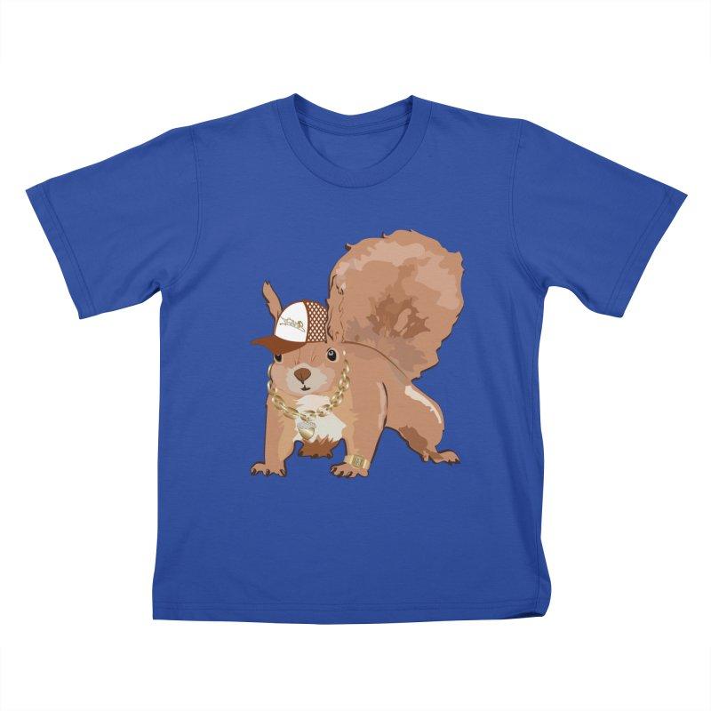 Oldschool Squirrel Kids T-shirt by Tramb