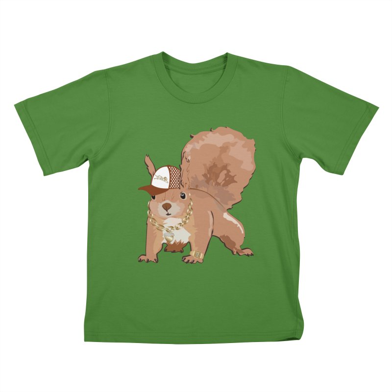Oldschool Squirrel Kids T-shirt by Tramb