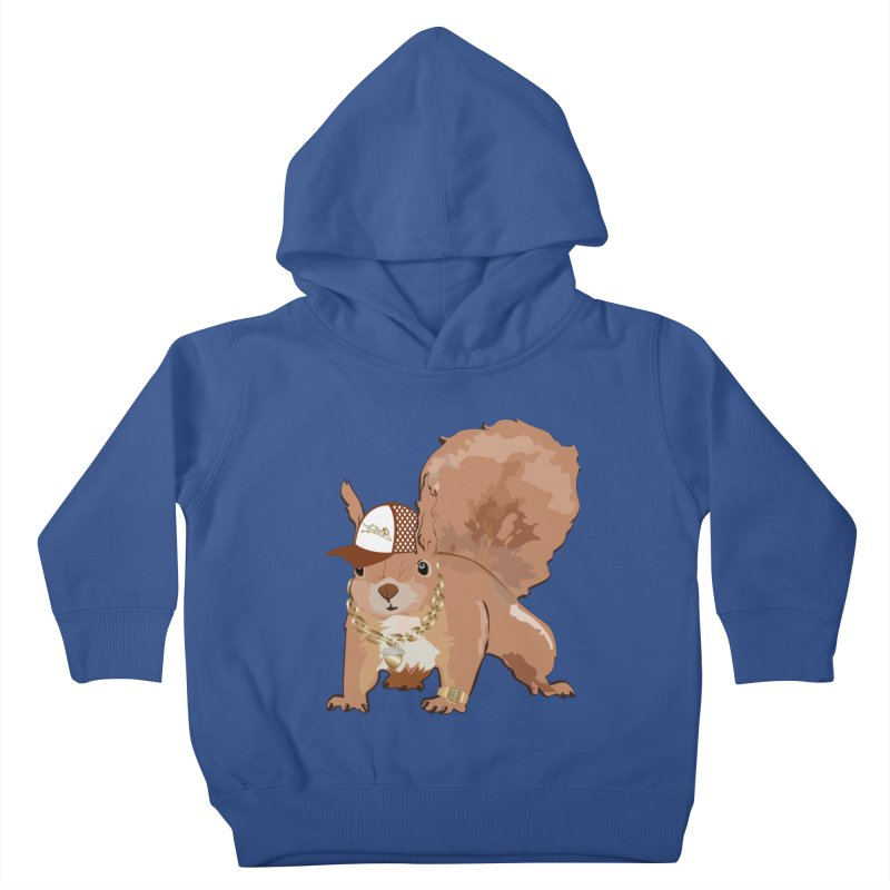 Oldschool Squirrel Kids Toddler Pullover Hoody by Tramb