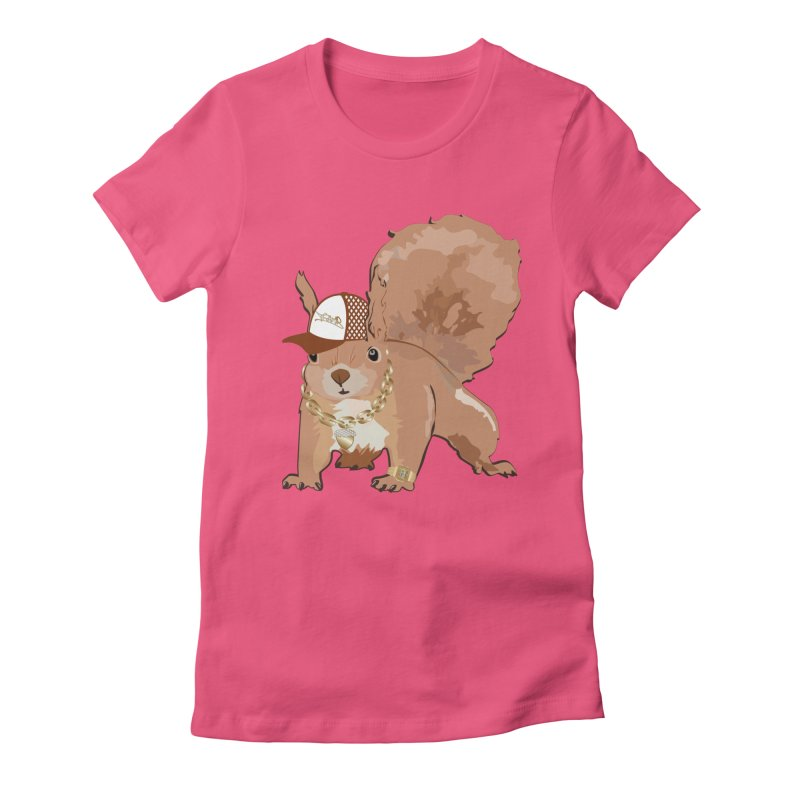 Oldschool Squirrel Women's Fitted T-Shirt by Tramb